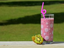 Free Fruit Drink On Railing Stock Photo - 83064550