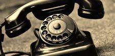 Free Black Vintage Telephone Stock Photos - 83064553