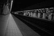 Free People Walking On Train Station Greyscale Photography Royalty Free Stock Photos - 83064678