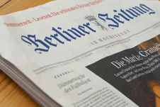 Free Berliner Zeitung Newspaper Royalty Free Stock Image - 83064716