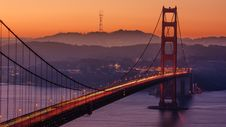 Free Sunset Over Golden Gate Bridge, San Francisco, California Stock Image - 83064871