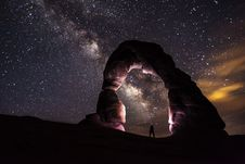 Free Milky Way At Arches National Park Royalty Free Stock Photography - 83064877