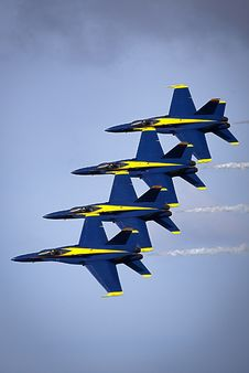 Free Blue Angels In Formation Stock Image - 83065001