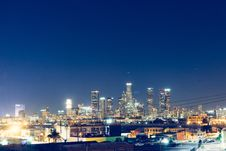 Free City Skyline At Night Stock Photography - 83065022