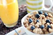 Free Cereal With Blueberries Royalty Free Stock Photo - 83065025