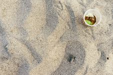 Free Drink On Sand Stock Photo - 83065030
