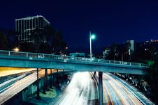 Free Freeway In City At Night Royalty Free Stock Photography - 83065077