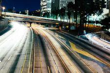 Free City Freeway At Night Royalty Free Stock Images - 83065109