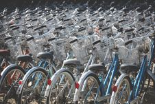 Free Parked Bicycles  Stock Photography - 83065122