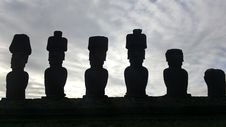 Free Moai Statue In Easter Island Royalty Free Stock Photos - 83065228
