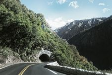 Free Road Leading To Mountain Tunnel Stock Image - 83065381