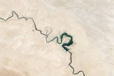 Free Aerial View Of Euphrates River Stock Image - 83065481