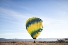Free Hot Air Balloon In Countryside Stock Image - 83065531