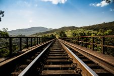 Free Railway Track Over Countryside Bridge Royalty Free Stock Images - 83065579