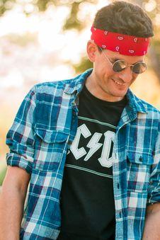 Free Men S Wearing Black Crew Neck Shirt While Smiling Stock Image - 83065771