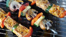 Free Kebabs On Grill Royalty Free Stock Photos - 83066028