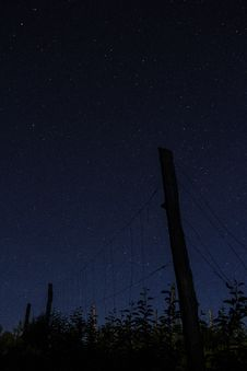 Free Fence Against Starry Skies Royalty Free Stock Photos - 83066048