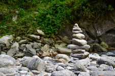 Free Gray Tower Of Stones Near The River Stock Image - 83066151