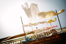 Free Clothes Hanging On Line At Daytime Royalty Free Stock Image - 83066286