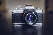 Free Minolta Silver And Black 35 Mm Camera Stock Photo - 83066610