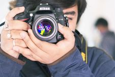 Free Taking A Picture With A Nikon Camera Royalty Free Stock Photo - 83066615