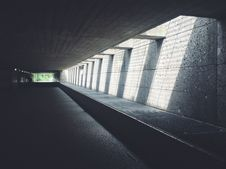 Free Sunlight Streaming Through Concrete Opening Of Underground Passageway Royalty Free Stock Image - 83067236