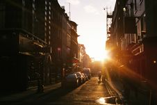 Free Sunset Over City Streets Stock Image - 83067331