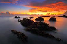 Free Sunset At Seashore Stock Photos - 83067453