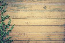 Free Wooden Fence With Creeper Royalty Free Stock Images - 83067519