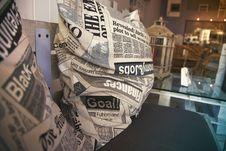 Free Newspaper Pillows Stock Image - 83067691