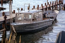 Free Product Photography Of Silver Motor Boat Neck Dock During Daytime Stock Photos - 83067943