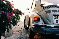 Free Gray Volkswagen Beetle Near Pink Flowers Stock Photo - 83068240