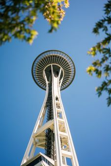 Free Space Needle Under View During Daytime Stock Photography - 83074332