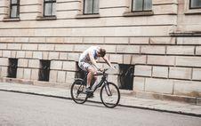 Free Man Riding Black Mountain Bike On Pathway During Daytime Stock Photo - 83074630