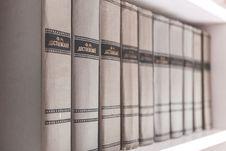 Free Encyclopedias On Shelf Stock Images - 83074894