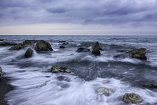 Free Waves On Rocky Shores Stock Photos - 83075043