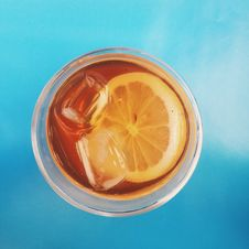 Free Iced Tea With Lemon Royalty Free Stock Photography - 83075057