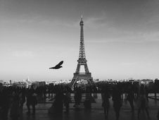 Free Eiffel Tower, Paris, France In Black And White Royalty Free Stock Image - 83075096