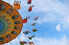 Free Riders In Amusement Park Stock Photos - 83075113