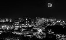 Free Full Moon Above City Stock Photography - 83075122
