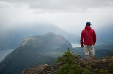 Free Hiker On Hilltop Royalty Free Stock Photography - 83075297