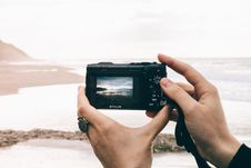 Free Olympus Stylus Photographing Beach Stock Photos - 83075393