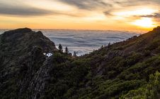 Free Mountain Above White Clouds During Sunset Royalty Free Stock Photography - 83075407
