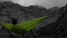 Free Selective Color Of Green Canvas Hammock Royalty Free Stock Photos - 83075468