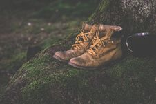 Free Brown Work Boots Royalty Free Stock Photos - 83075628