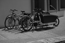Free Greyscale Photo Of Utility Bike During Daytime Stock Image - 83075711