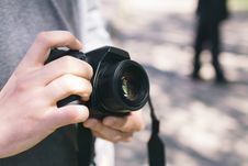 Free Person Holding Black Dslr Camera Stock Images - 83076094