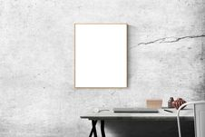 Free Blank Frame Above Table Stock Photography - 83076102