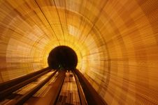 Free Brightly Lit Tunnel Stock Images - 83076114