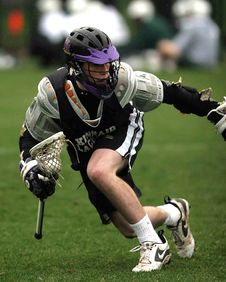 Free Person In Black Sports Jersey Playing Lacrosse Stock Photos - 83076123